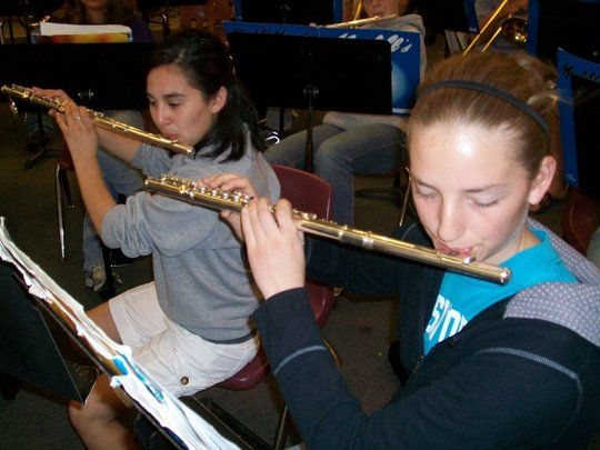 Flute Players from the Band