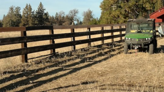 New fence repair in Shasta County, CA Gila home