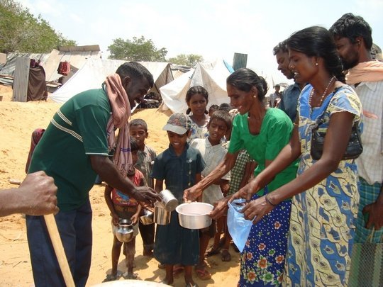 Provide aid to war affected in Vanni, Sri Lanka