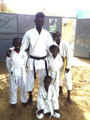 Instructor, Bouaro with Maison de la Gare karateka