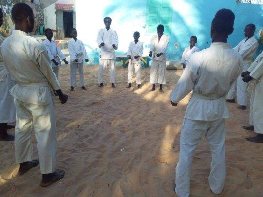 karate class at Maison de la Gare