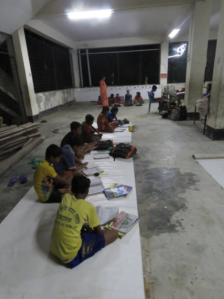 Solar light helps them to study at night