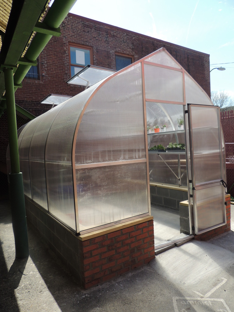The new, beautiful greenhouse.