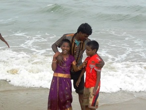 Care giver with child akshaya and Mukesh