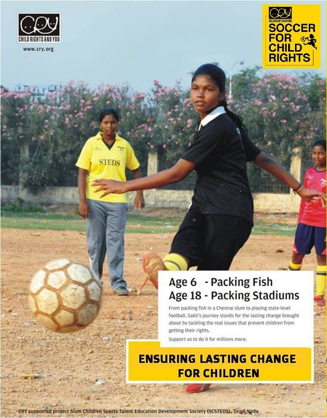 Support Slum Youth Playing Soccer for Child Rights