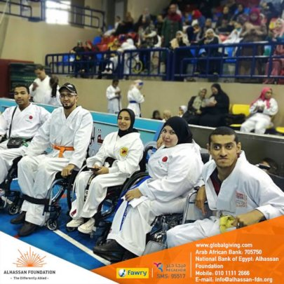 1st Karate team of Wheelchair users