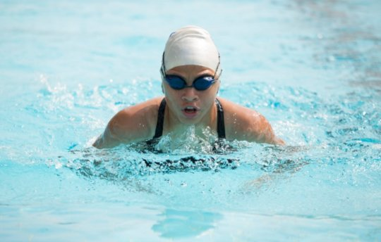 Malak during her participation in the swimming