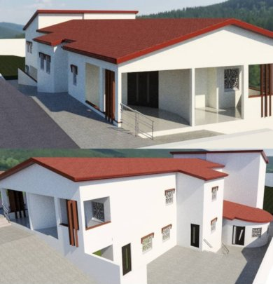 House finished in 3 D