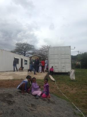 Children waiting to register