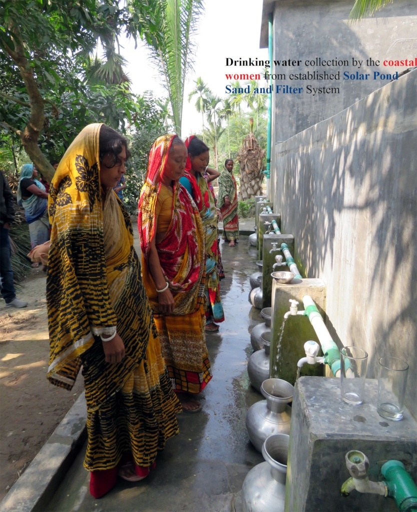 Drinking water collection by coastal women