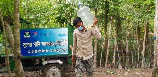 Door to door water supply