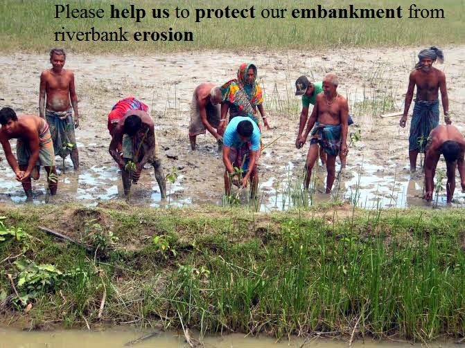 Help them to protect the embankment