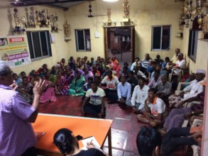 Community meeting to sensitize villagers.