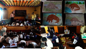 Drawing Competition at Z.P. School, Chikhali.