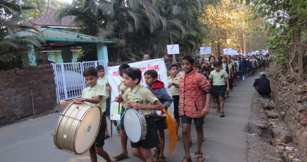 School student Rally to raise awareness
