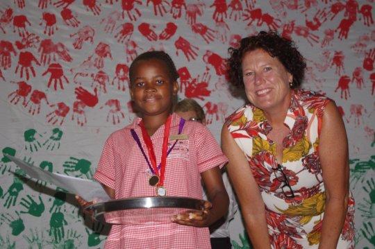 Lou with Academic Achiever Milisani