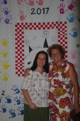 Lou and school co-funder Sharon Edworthy