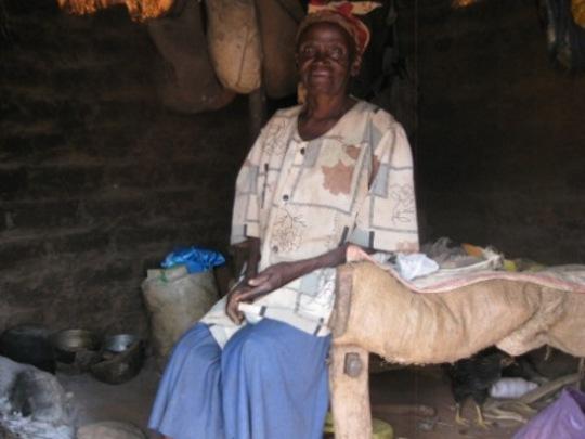 Grandma Yatta in her home