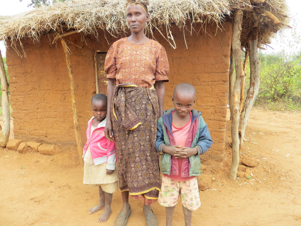 Grandmother with orphan children