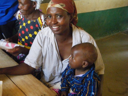 Mother and child in an outreach clinic