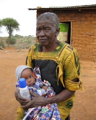 Grandmother caring for Nndunge