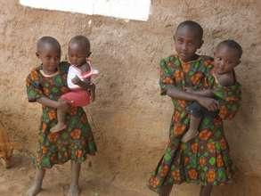 Kamba children in a village near Kisesini