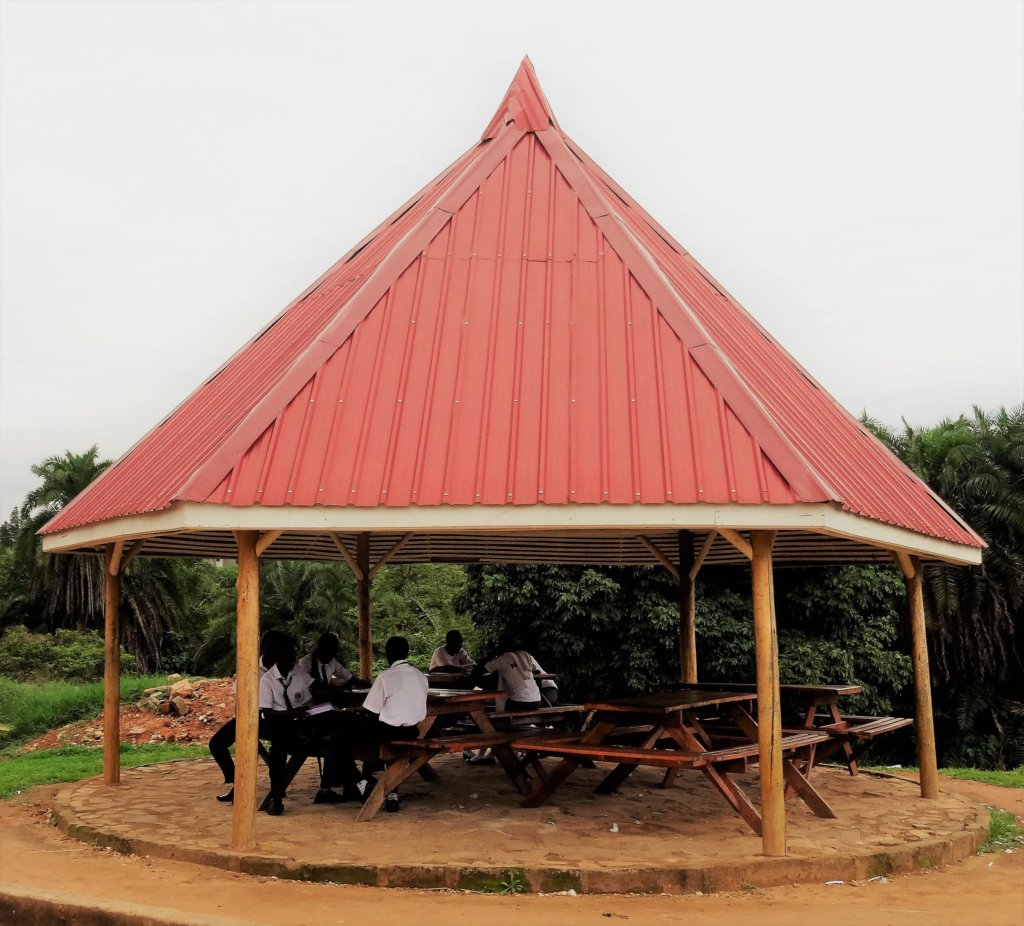 Permanent Canopy Shelter : How to share permanent garden canopy for shade and shelter