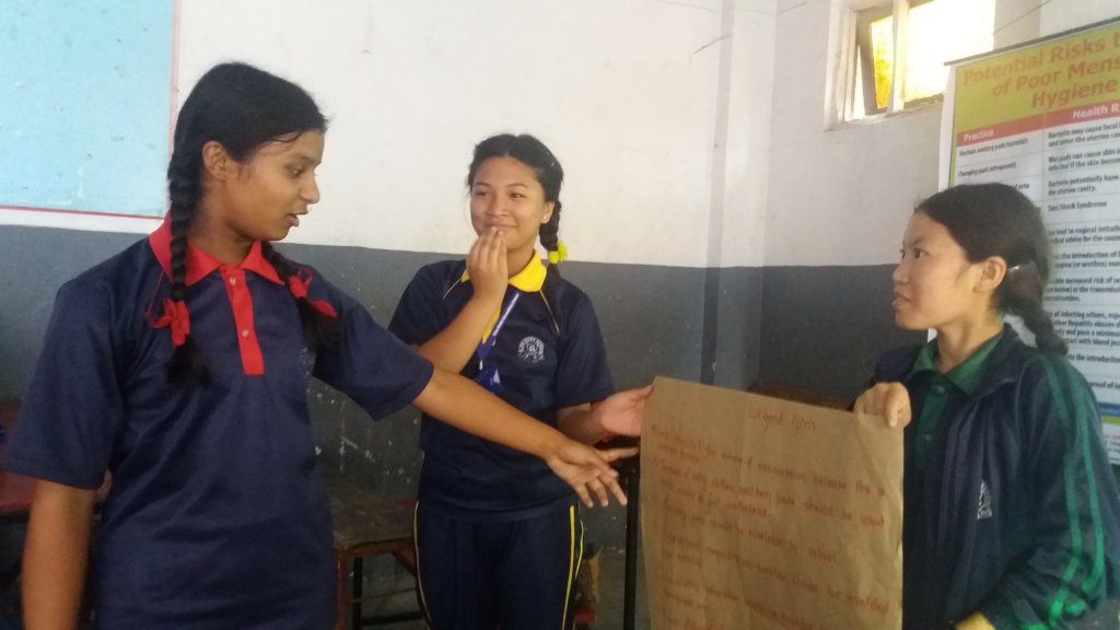 Nepali Girls Playing And Teasing
