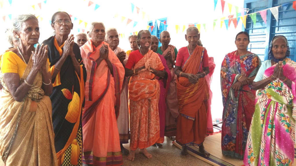 Food to neglected elderly women