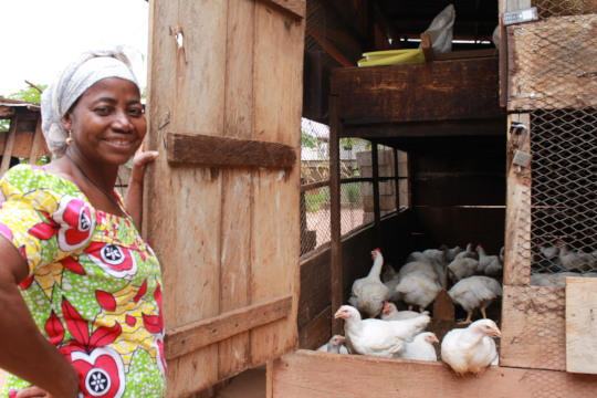Mama Magno and her chickens !