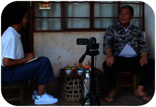 Student Interviewing Fengshui Master