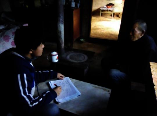 Jiangtao Interviewing Grandpa