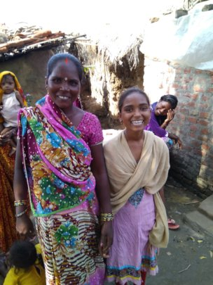 Sangeeta and her mother