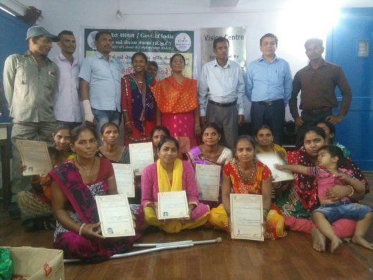 Mothers  completed Tailoring Course