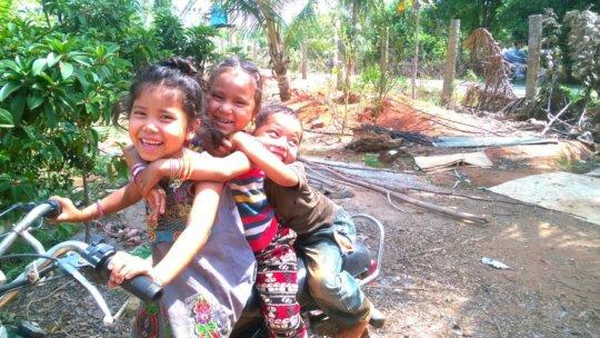 Deepana, having great fun with her cousins