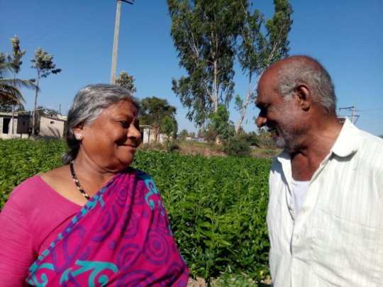 Shivalingappa and his wife lead a blissful life.