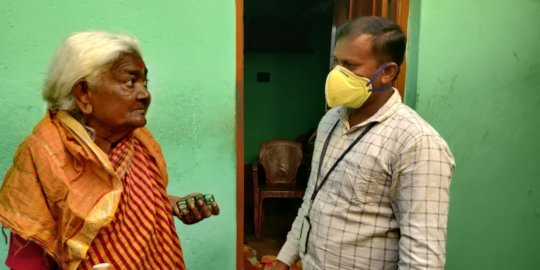 Narasamma is relieved to get her medicines