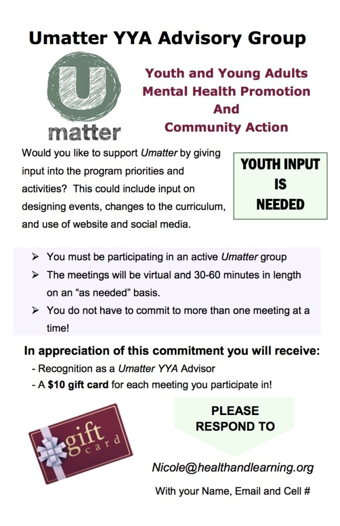 Umatter -- Prevent Teen Suicide in New England!