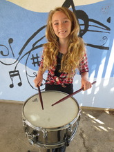 Kaia with her Drums