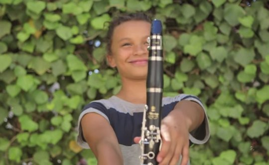 Clarinet Student from Rio Vista Shares her Joy