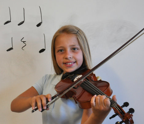 Sydney Smiles with her Violin
