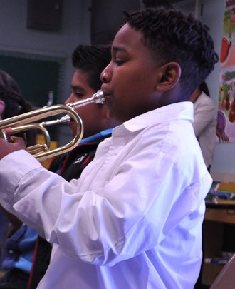 Trumpet Student at the Music Unites Festival