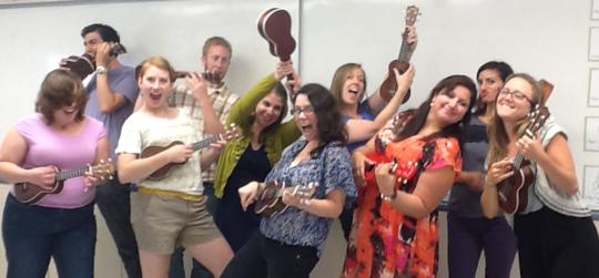 Music Teachers Receive Training on Ukuleles
