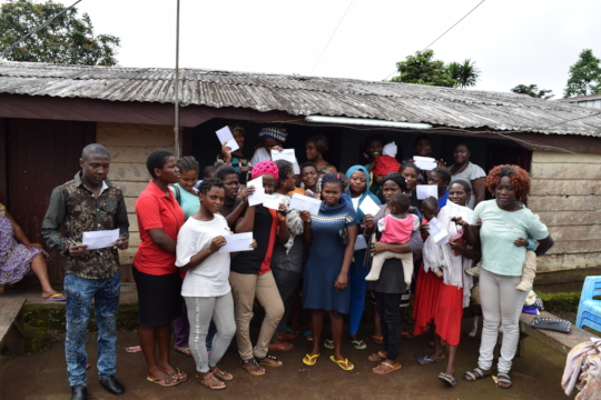 Disbursement of grants with another 17 girls