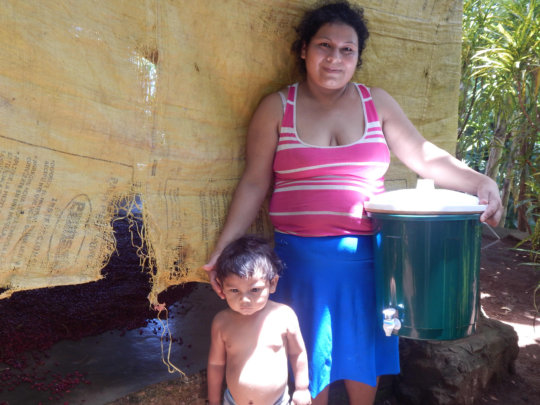 Christian, His Mom, with Water Filter