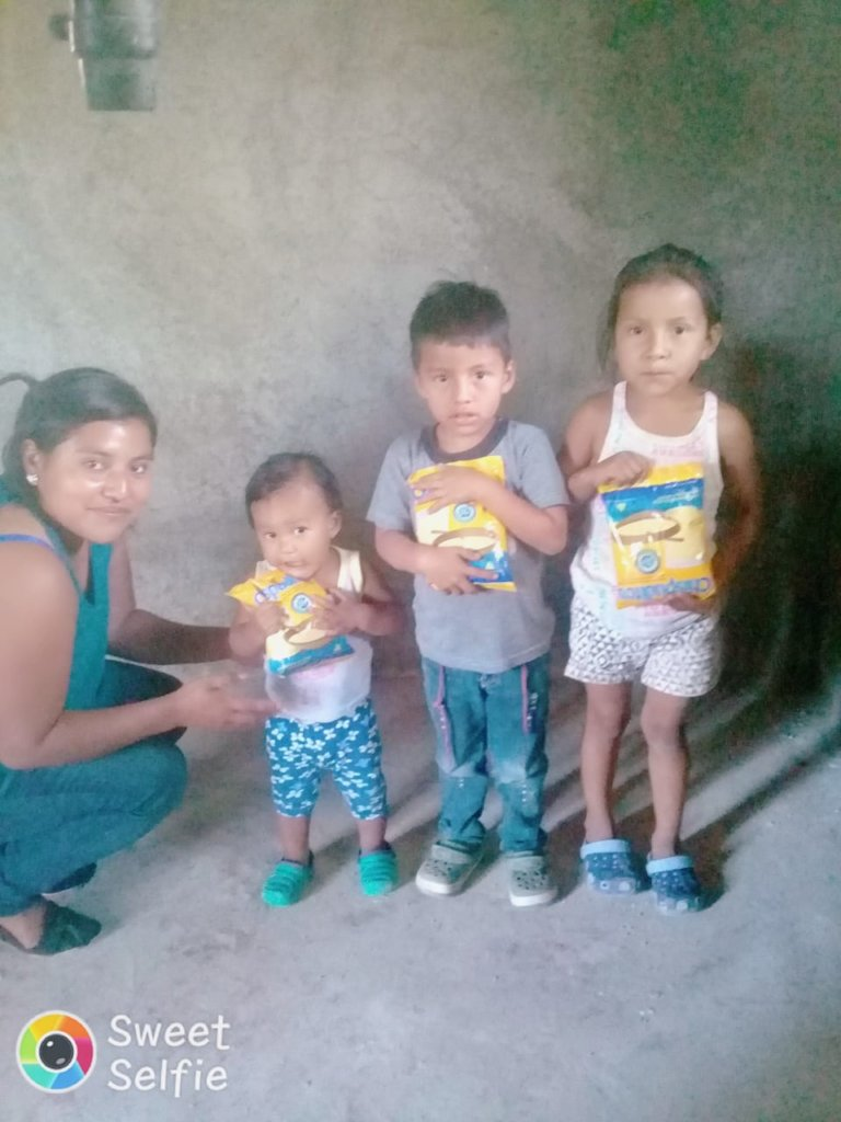 Mother and 3 children January 2019