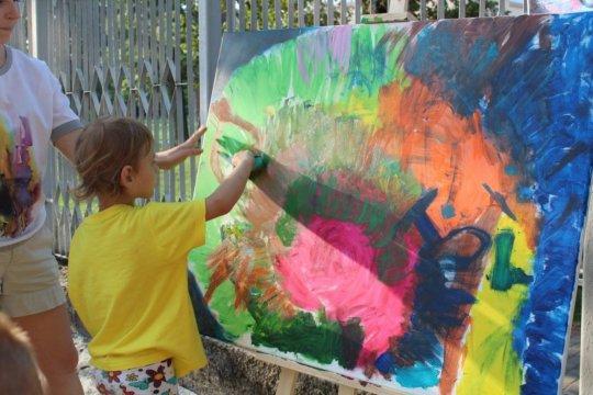 Children enjoy after-class outdoor activities