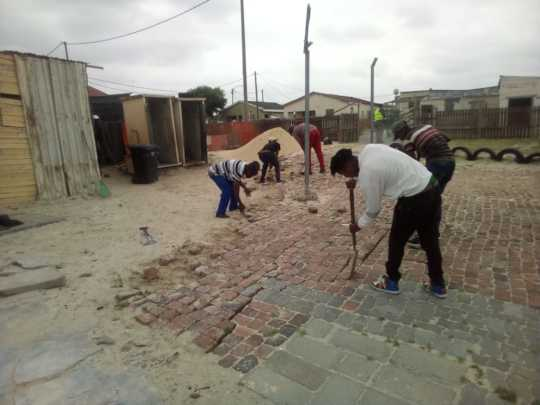 Construction is underway at Ubuhle Babantwana