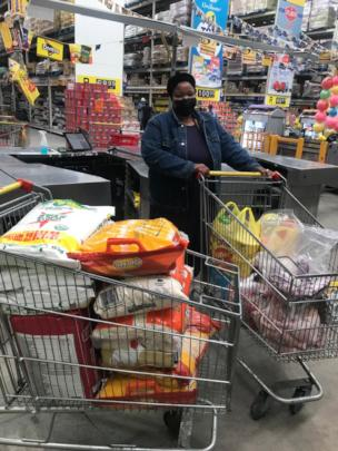Grocery shopping for additional food and PPE