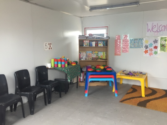 Interior of the new container classroom
